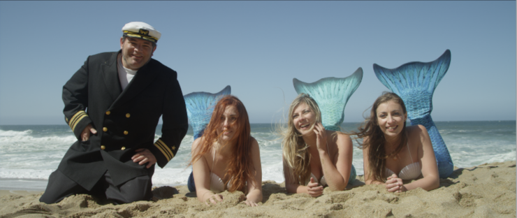 The Captain and Mermaids on The Island